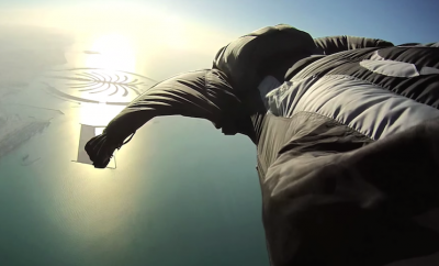 wingsuit skydiving over dubai