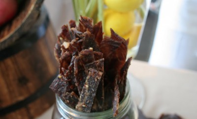 beef jerky in mason jar