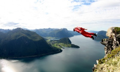 person base jumping