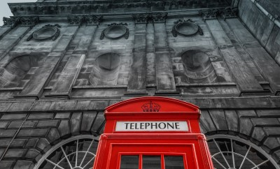 Telephone booth in liverpool