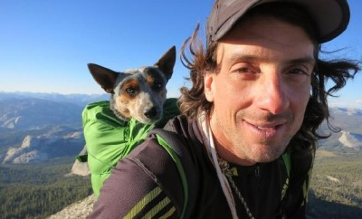 Dean Potter brings dog Whisper with him to climb Yosemite