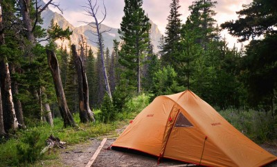 tent at Cut Bank Campground
