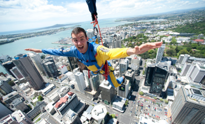 man sky jumping in new zealand
