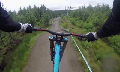 downhill biking from rider POV