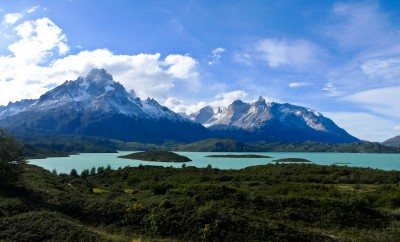 sky blue Torres del Paine