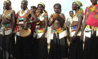 latuka women in tribal garb