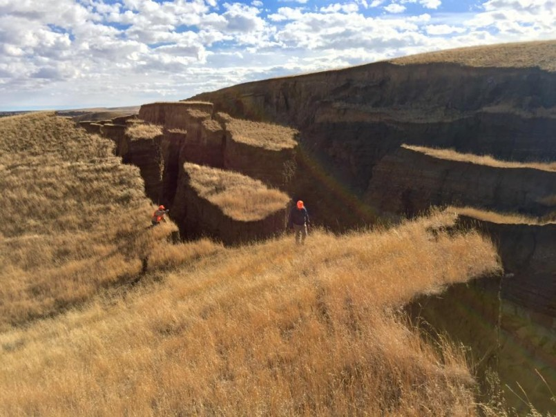 giant crack near Yellowstone in mountain range