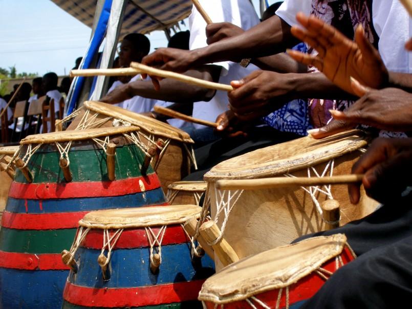 Group of Djembe drummer in Ghana, West Africa