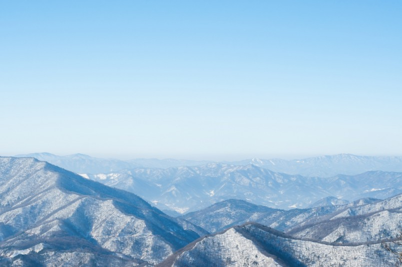 a beautiful scenery in dragon peak above yongpyong resort, you need to ride a gondola or cable car to reach this destination