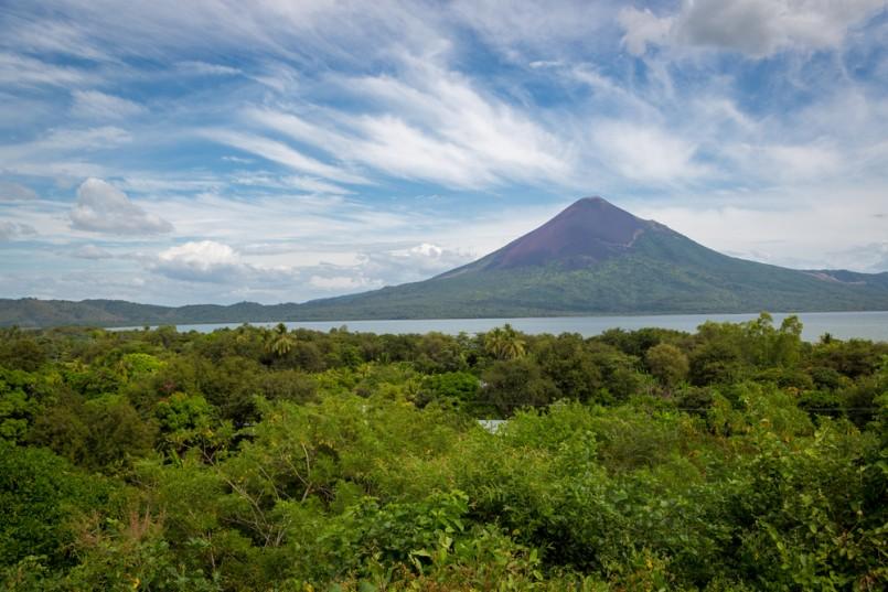 Momotombo Volcano close to Leon in Nicaragua