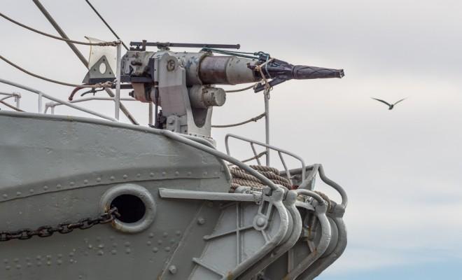 Whaling ship harpoon