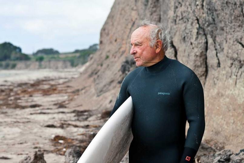 Yvon Chouinard surfing