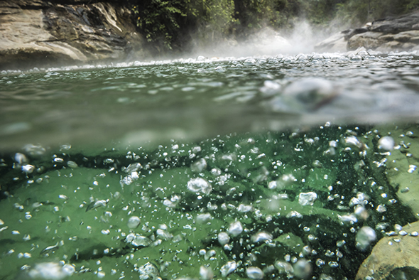 Boiling River Bubbles