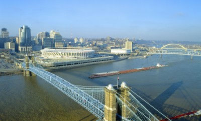 Roebling Suspension Bridge, Cincinnati, Ohio