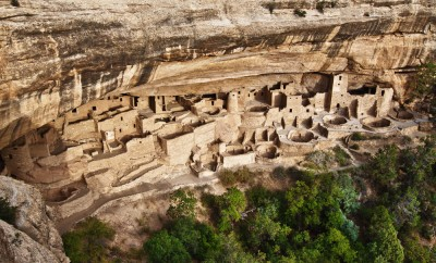 View of the Cliff Palace in Mesa Verde National Park, Colorado