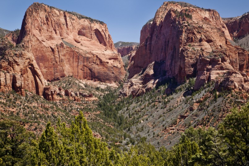 Kolob Canyon in Zion National Park near St. George Utah