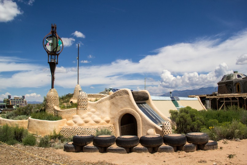 Earthships are environmentally friendly homes made of recycled materials