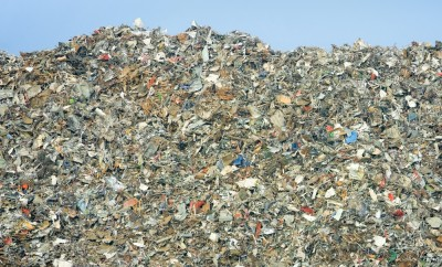 rubbish dump of landfill garbage - no visible trademarks