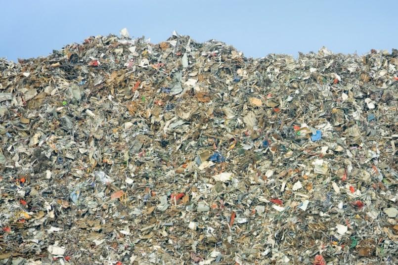 rubbish dump of landfill garbage - no visible trademarks