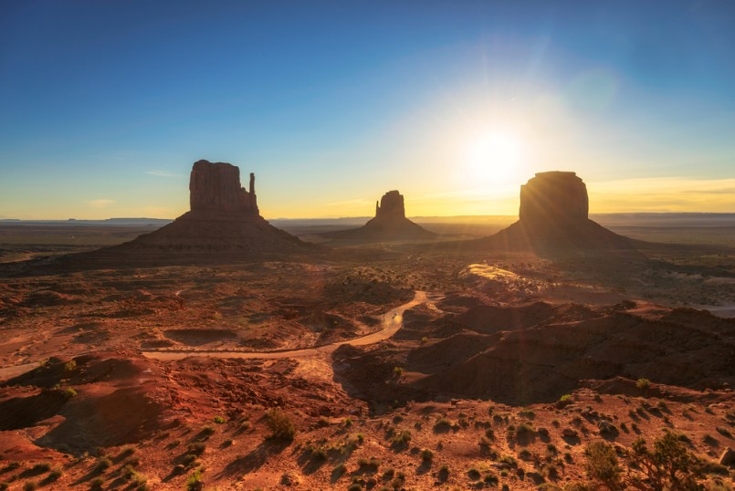 Beautiful sunrise at Monument Valley, Arizona