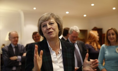 Theresa May gives a talk on the Brexit and local matters to the Hampstead and Kilburn Conservative Association