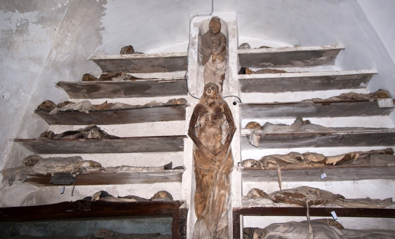 Catacombs of the Capuchins are burial catacombs in Palermo. Today they provide a somewhat macabre tourist attraction