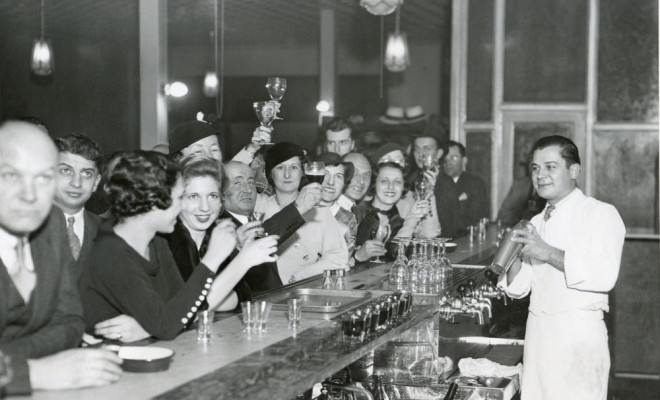 Customers at a Philadelphia bar after Prohibition's end, Dec. 1933