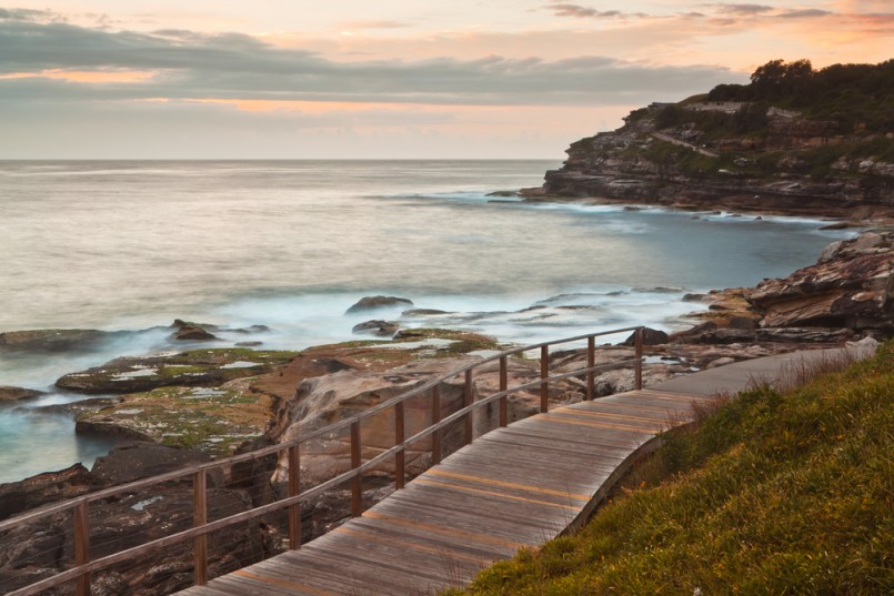 Bondi to Coogee coastal walk, Sydney, Australia.