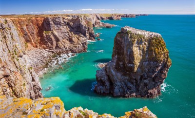 Stack Rocks, Pembrokeshire Coast National Park, Wales, U.K.