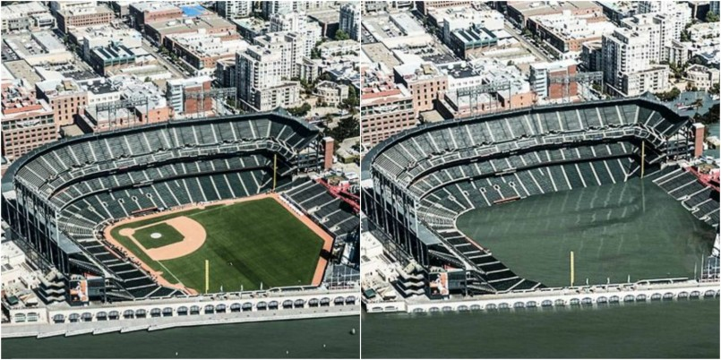 AT&T Park, San Francisco now and in 2200