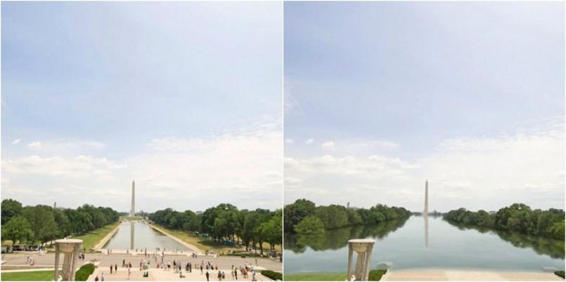 Washington Monument, Washington D.C. now and in 2200