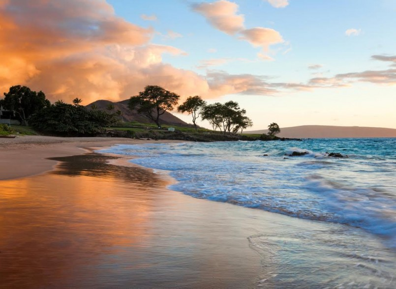 tropical beach in Maui, Hawaii