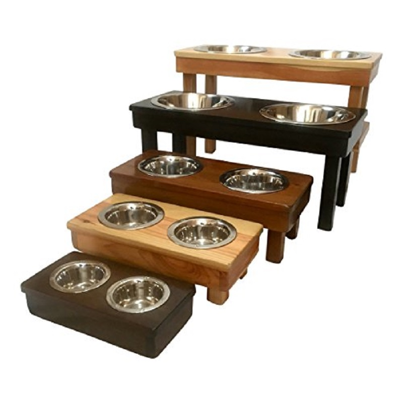 handmade elevated dog bowls