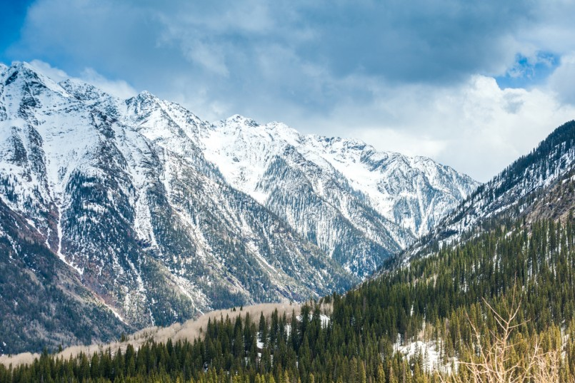 Beautiful and very high peaks in Colorado, USA