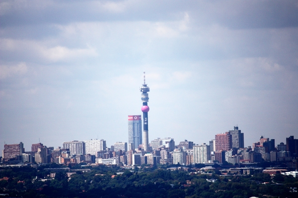 johannesburg skyline from northcliff hill