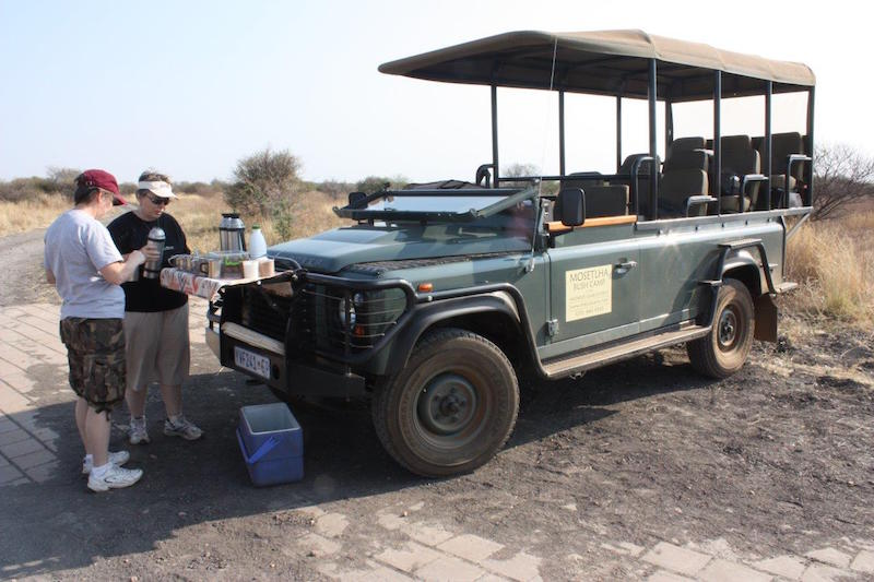 mosetlha bush camp jeep land rover adventure travel african safari