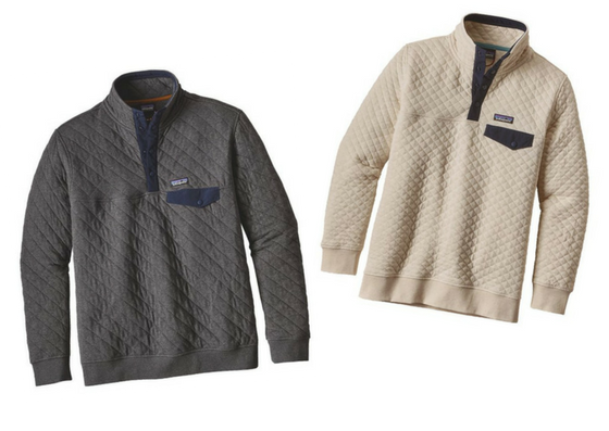 patagonia quilt snap t pullover sustainable gift guide