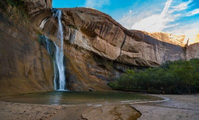 Lower Calf Creek Falls, Calf Creek, Grand Staircase-Escalante National Monument, south Utah, USA